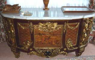 A French Gilt-bronze and Marquetry Commode,Paris,circa 1870,after Jean Henri Riesnerfrom a local surrey antique estate